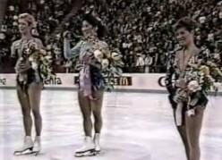 1989 Worlds: Midori Ito, Jill Trenary, and Kristi Yamaguchi