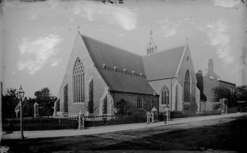 Greyfriars Church, Friar Street, Reading, from the south-east, c. 1875.