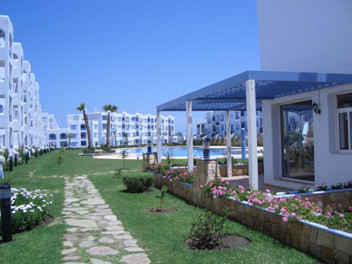 The gardens are lush and spacious with plenty of access to the pool area fro all residents