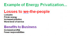 Why governments should never privatize.