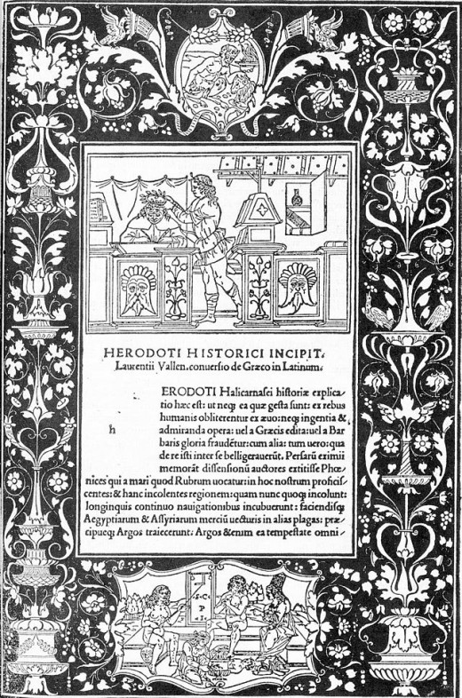 Preface of 1494 edition of The Histories