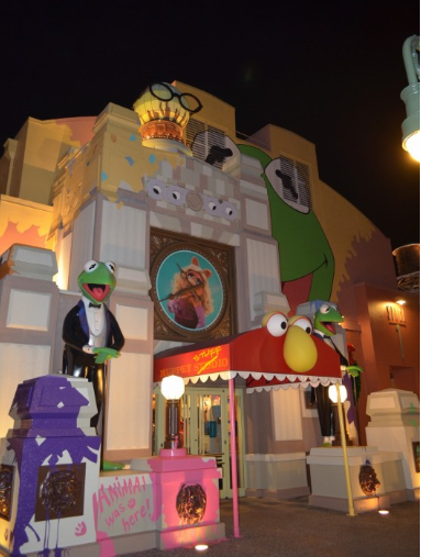 One of the Muppets stores at Disney's Hollywood Studios in Orlando, Florida. Notice - no people, that's because visitors staying at a Disney resort hotel have Magic Hours - they can stay in the park after it closes to non-resort guests!