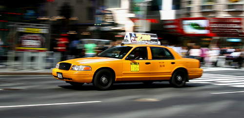 Taxi ride in NYC