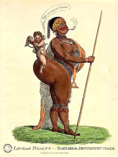 A contemporary drawing of Sarah Baartman