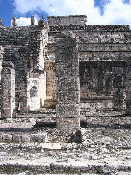 Mayan column in Chichén Itzá