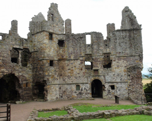 Dirleton Castle View from the Interior