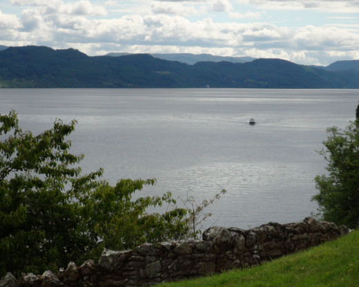 This photograph was taken by the author's husband of the serene Loch Ness in Scotland.  This Loch is designed in a long, narrow strip.  It is fantastic for boaters and water sports.