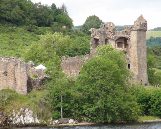 Urquhart Castle - Photo taken from the Loch Boat Tour.  It is essential that you get the view of the castle from both water and land to get the full appreciation of the design and ruins.