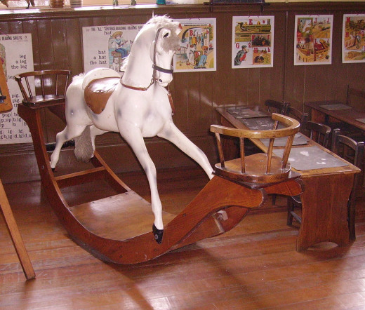Elaborate Rocking Horse  from the Beamish Museum, County Durham, England.