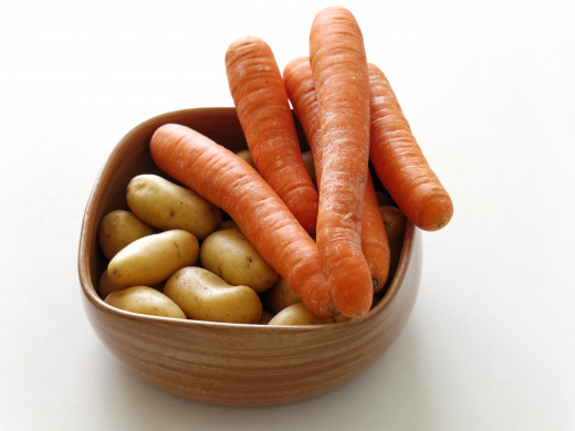 Carrots and potatoes are the backbone of a frugal cook's kitchen.
