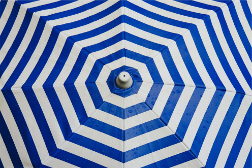 Pattern on umbrella
