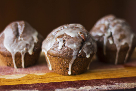 Give it a try! Chocolate chocolate chip muffins with orange glaze.