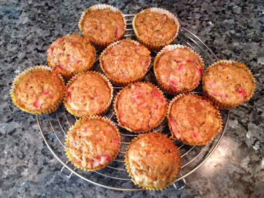 Hearty Strawberry Banana Muffins