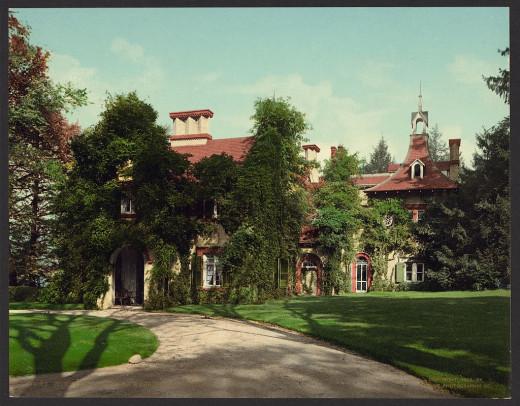 """Sunnyside,"" home of Washington Irving"