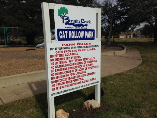 Cat Hollow Park & Pool - Rules