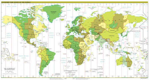 The UTC timezones as the apply to all countries across the world.