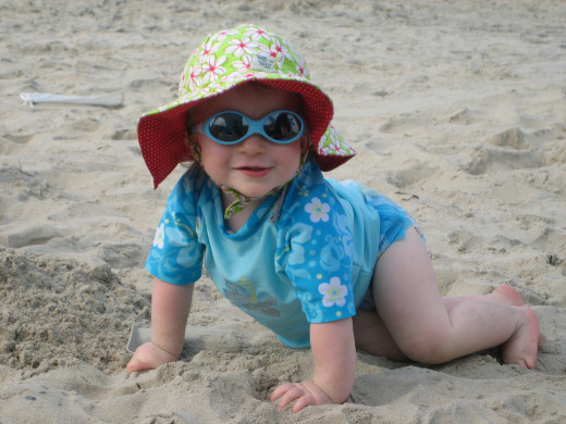 Protect your baby from the sun to avoid milia.