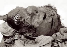 Seqenenre Tao II, believed by masonic scholars to be the basis for Hiram Abif. His skeleton and skull show matching wounds to Hiram's from the legend.