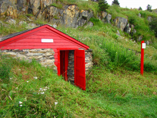 Root cellars, such as this historic Root Cellar on the famous Shoreline Trail in Bay Roberts, Newfoundland, can be built into the side of a hill.