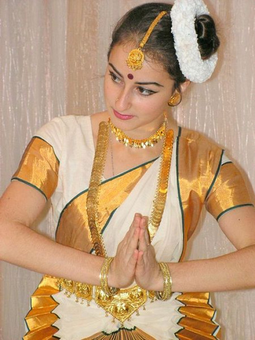 A Russian dancer in Indian Benarsi Sari