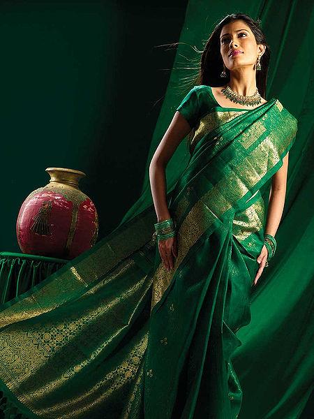 The Geometric designs on Sari