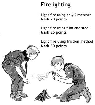 Light a fire - and earn points too!