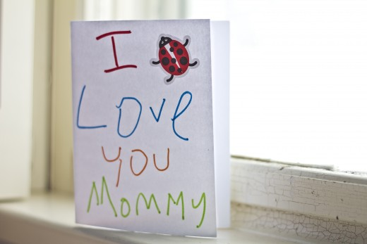 Show your mom you care by writing it down. Make it even more special by penning your message in a hand-made card.
