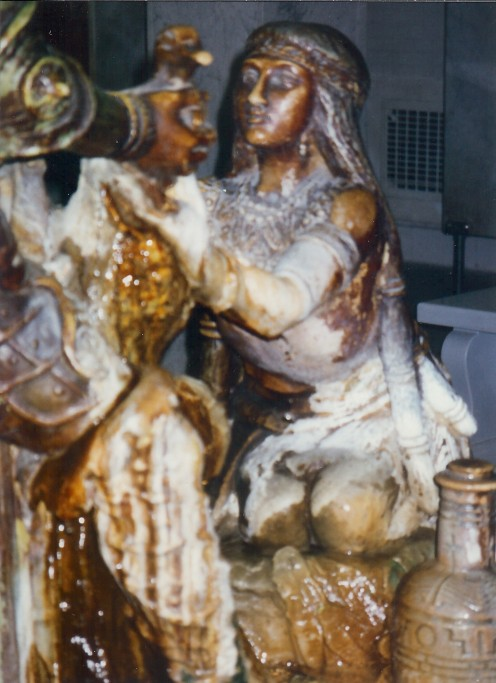 Close-up of The Fountain of Youth statue from another angle