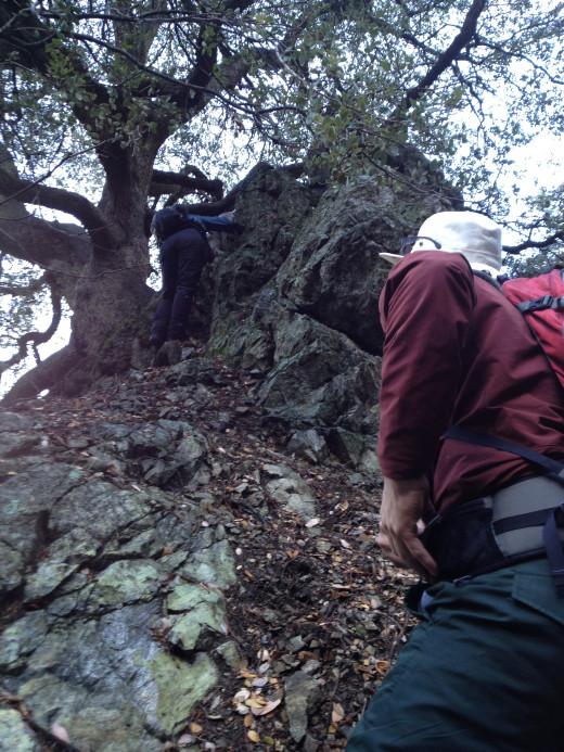 Take a hike over a ridge into a canyon