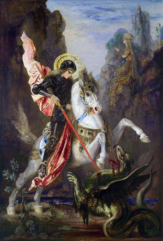 """Saint George and the Dragon"" by Gustave Moreau"
