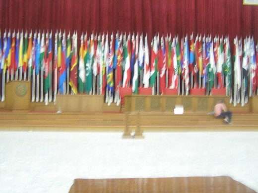 Gedung Merdeka's conference hall (sorry blur)