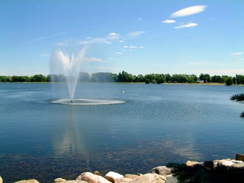 Henderson Lake, in Henderson Park, Lethbridge, Alberta