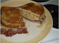 Minnesota Cooking: Reuben Sandwich - Corned Beef, Sauerkraut, Swiss Cheese and Thousand Island Dressing