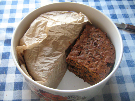 Wrap the Cake in Greaseproof paper