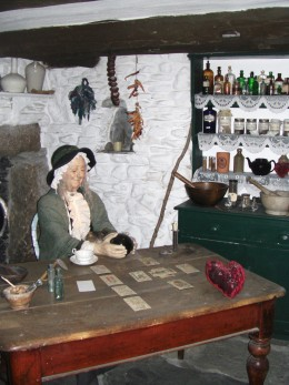 This is a model of what a cunningwoman might have looked like in nineteenth century England.