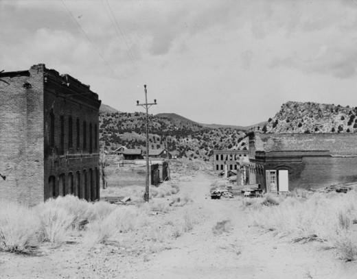 Aurora, Nevada - circa 1937