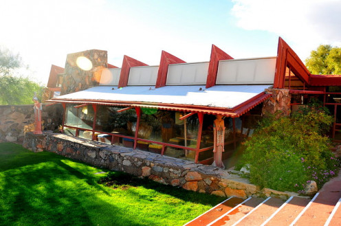 Frank Lloyd Wright's Taliesin West: the Garden Room; Scottsdale, Arizona.