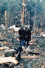 Scene from flight 981's debris field.