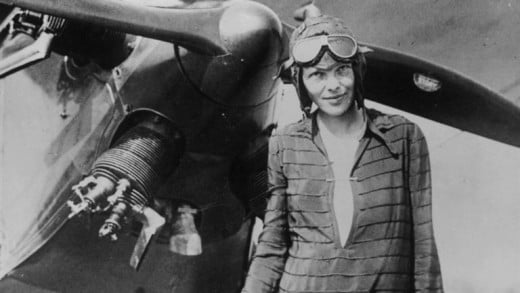 Amelia Earhart was the first female aviator to fly solo across the Atlantic Ocean.