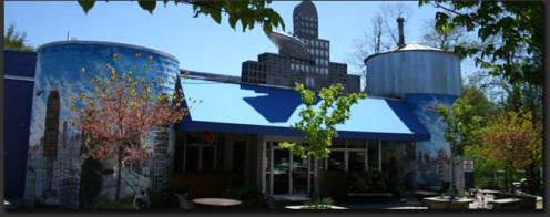 Merrimon Avenue, also known as the Brew 'n View, is home of the orignal 7bbl brewery and discount dine-in movie theater.