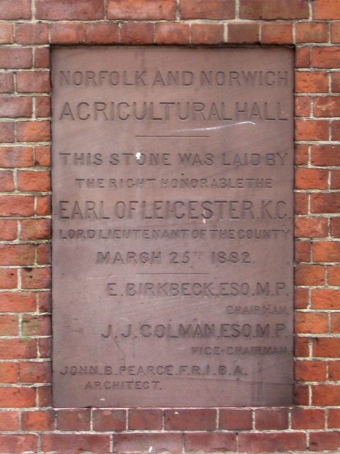 Foundation stone, Anglia House, Norwich