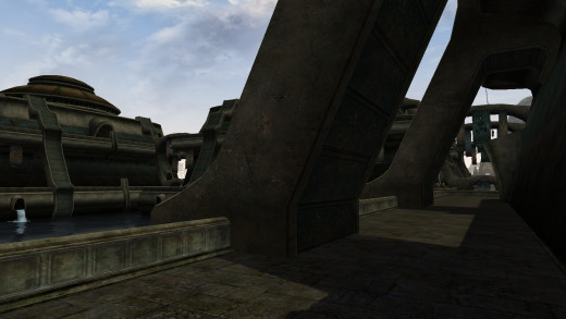 Vivec is by far the largest capital city in the three games.