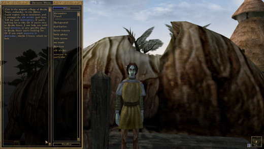 While Morrowind did have some surprisingly solid voice-acting, most of the dialog in Morrowind was entirely text-based.