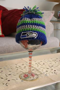 Seattle Seahawks Crochet Baby Cap