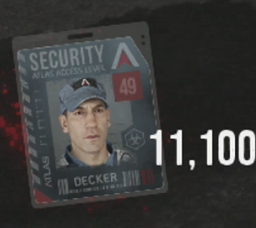 Your security level is found on the top right hand corner of your badge.