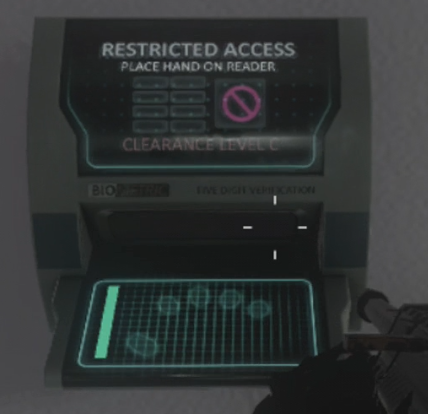 Each character has their own hand scanner that must be activated.