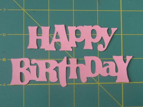 Happy Birthday phrase