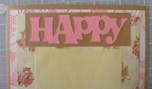 Happy phrase adhered