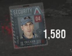 "Decker (Jon Bernthal) Security Badge - ""Game Over Man' Easter Egg in Outbreak"