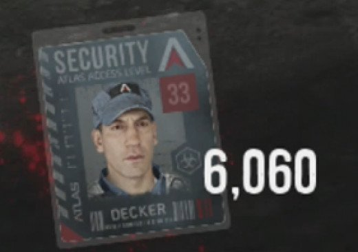 The Security Clearance on this Character Badge is a 33, a 49 is needed to advance to the next step.